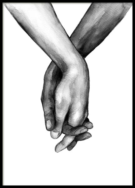 Watercolor Hands No1 Juliste ryhmässä Julisteet  / Koot / 40x50cm @ Desenio AB (10201)
