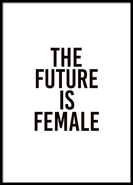 The Future Is Female Juliste ryhmässä Julisteet  / Tekstitaulut @ Desenio AB (10293)