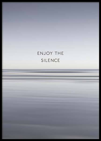 Enjoy The Silence Juliste ryhmässä Julisteet  / Mindfulness @ Desenio AB (10300)