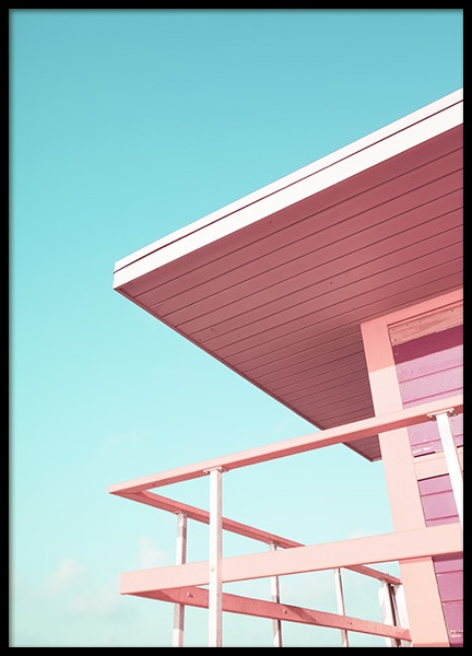 Pink Beach Tower Juliste ryhmässä Studio / Coast to coast / Studio Miami @ Desenio AB (10759)