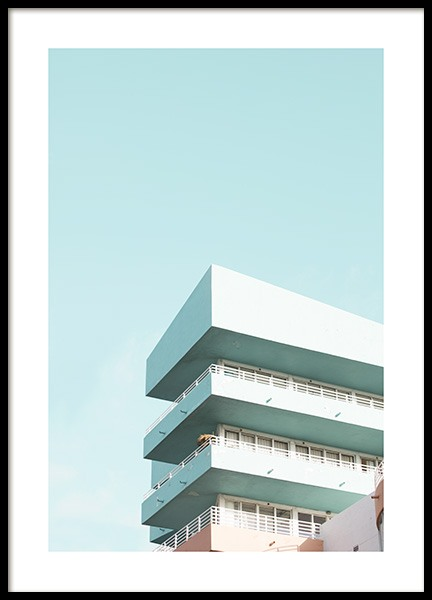 Pastel Balconies Juliste ryhmässä Studio Collections / Studio Coast to Coast / Miami @ Desenio AB (10767)