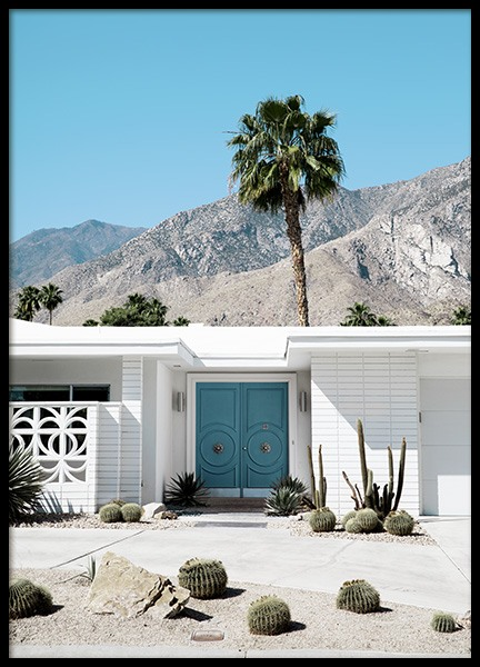 Blue Door Palm Springs Juliste ryhmässä Studio / Coast to coast / Studio Palm Springs @ Desenio AB (10794)