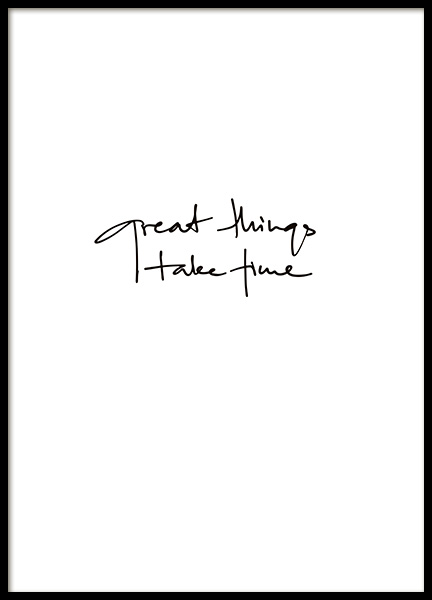 Great Things Take Time Juliste ryhmässä Julisteet  / Mindfulness @ Desenio AB (11130)