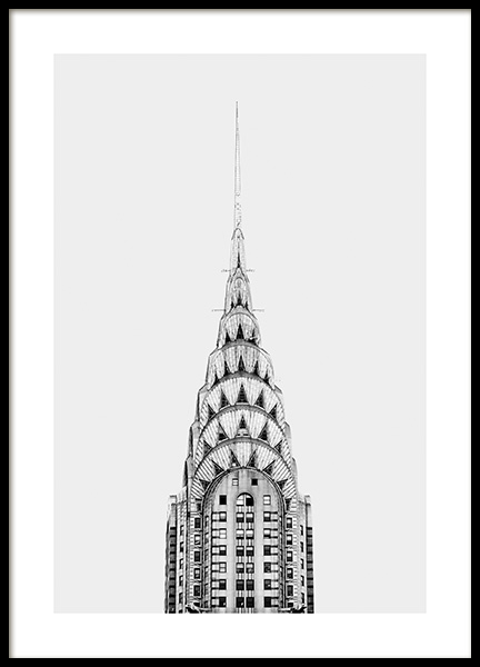 Chrysler Building Juliste ryhmässä Julisteet  / Studio Collections / Studio Cosmopolitan @ Desenio AB (11306)