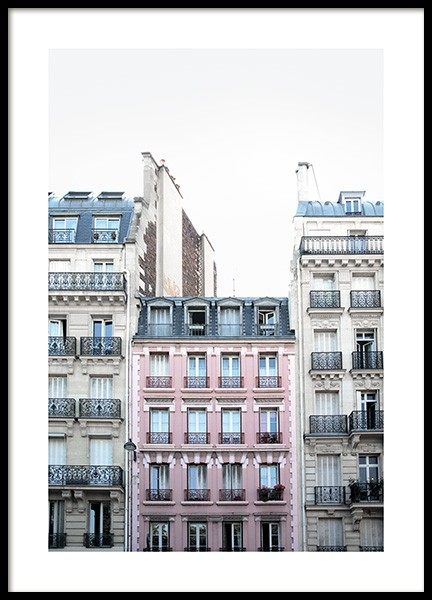 Pink Facade in Paris Juliste ryhmässä Studio Collections / Studio Cosmopolitan @ Desenio AB (11348)
