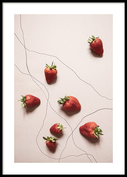 Strawberries Juliste ryhmässä Julisteet  / Koot / 50x70 cm @ Desenio AB (12816)