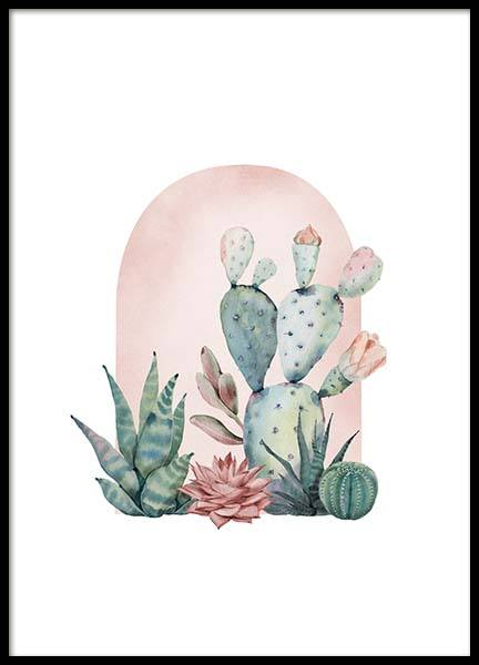 Cactus Collection No1 Juliste ryhmässä Julisteet  / Koot / 50x70 cm @ Desenio AB (3143)