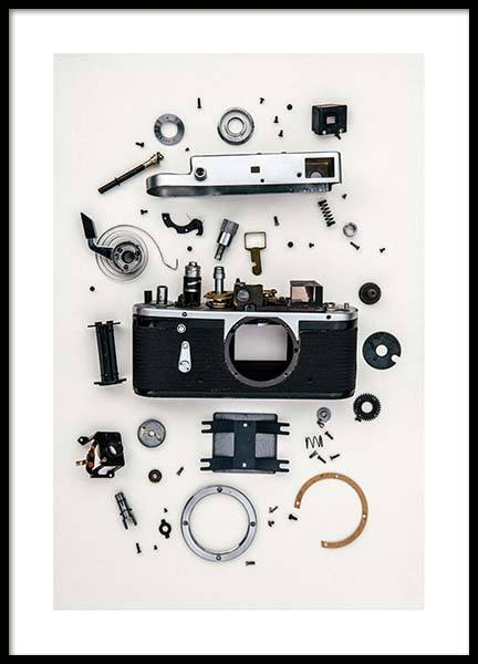 Disassembled Camera Juliste ryhmässä Julisteet  / Koot / 50x70 cm @ Desenio AB (3732)