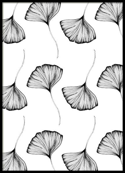 Ginkgo Leaves Pattern Two Juliste ryhmässä Julisteet  / Koot / 50x70 cm @ Desenio AB (3771)