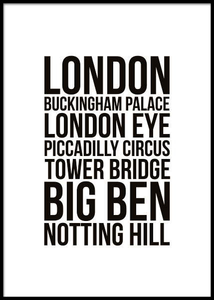 London Locations Juliste ryhmässä Julisteet  / Koot / 30x40cm @ Desenio AB (7932)