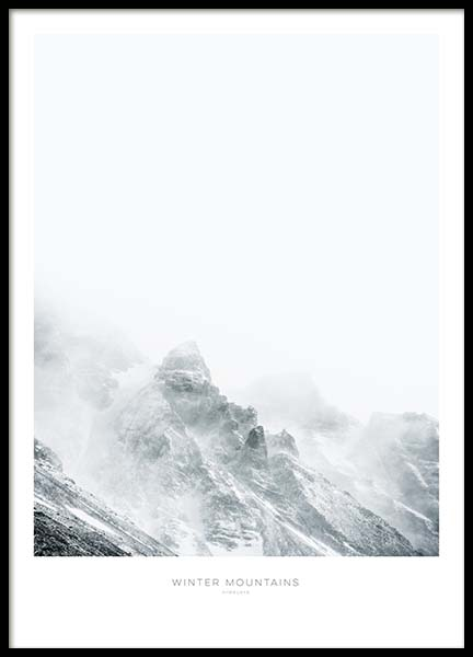 Winter Mountains Juliste ryhmässä Julisteet  / Koot / 50x70 cm @ Desenio AB (8884)
