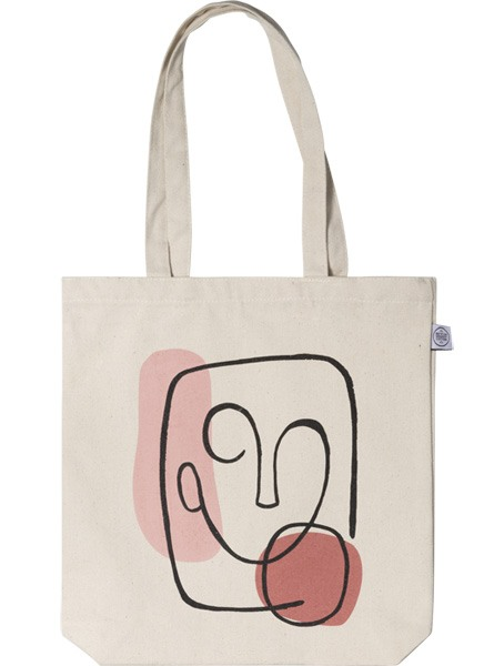 Abstract Face Tote Bag ryhmässä Limited edition @ Desenio AB (TOTE50145)