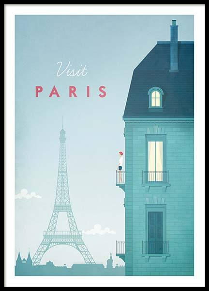 Paris Travel Juliste ryhmässä Julisteet / Handpicked / Henry Rivers @ Desenio AB (pre0013)