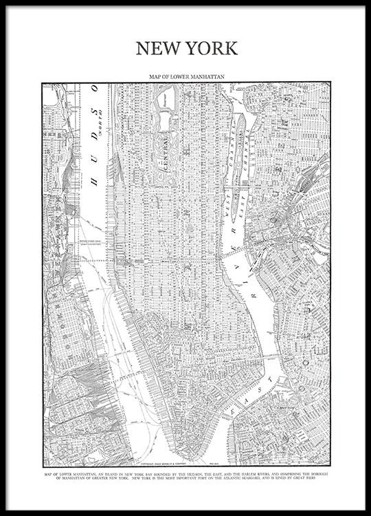 Taulut Ja Julisteet Manhattanin Kartasta Desenio Fi