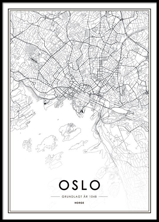 Oslo Juliste Jossa Kartta Desenio Fi