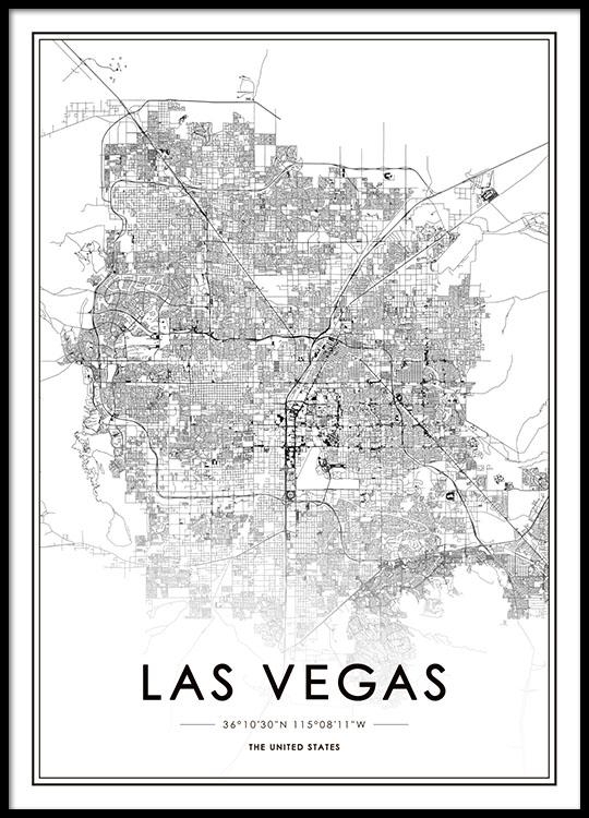 Las Vegas Map Juliste